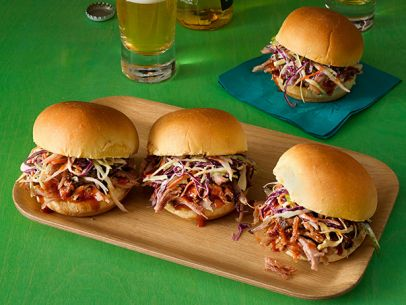 http://www.foodnetwork.com/recipes/anne-burrell/pulled-pork-sliders.html