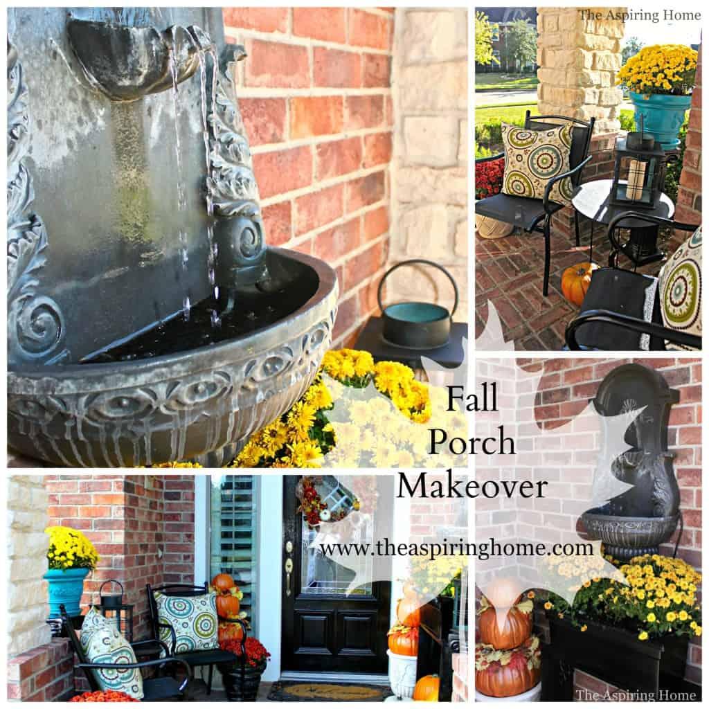 fall front porch makeover www.theaspiringhome.com