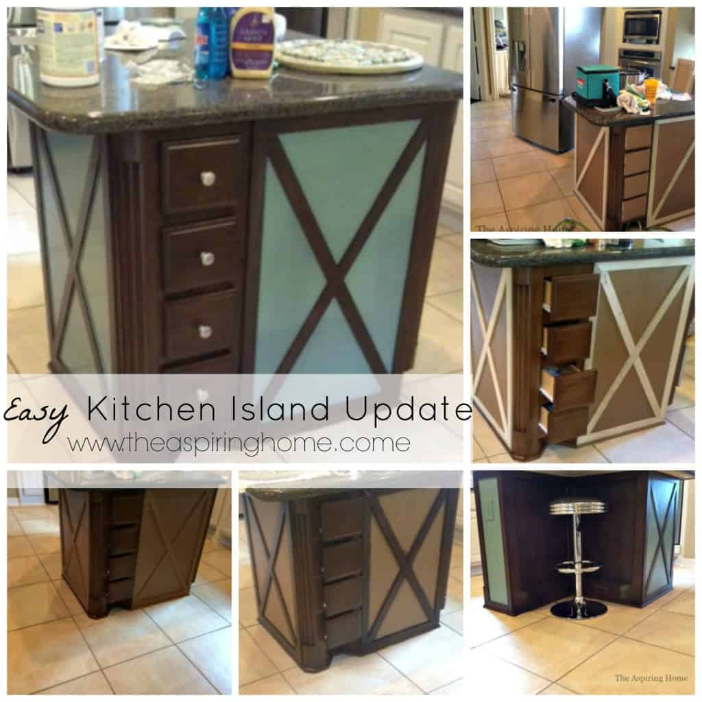 easy kitchen island easy kitchen island makeover the aspiring home 3505