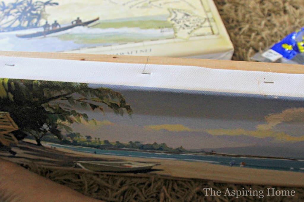 How to stretch canvas art www.theaspiringhome.com