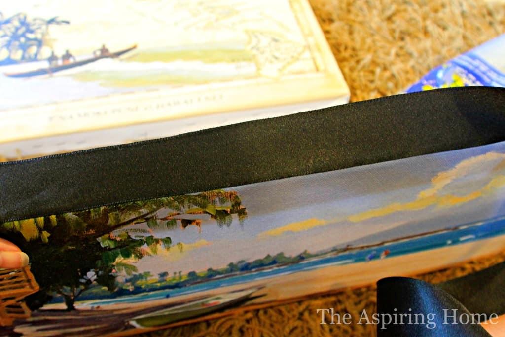 How to Stretch Canvas art www.the aspiringhome.com