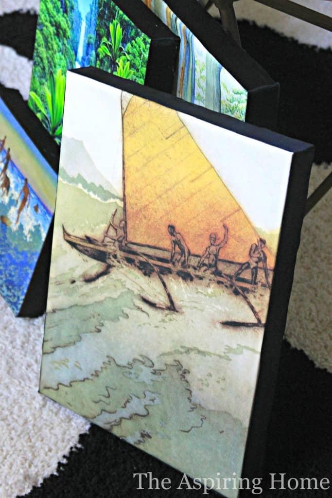 How to Stretch Canvas artwork www.theaspiringhome.com