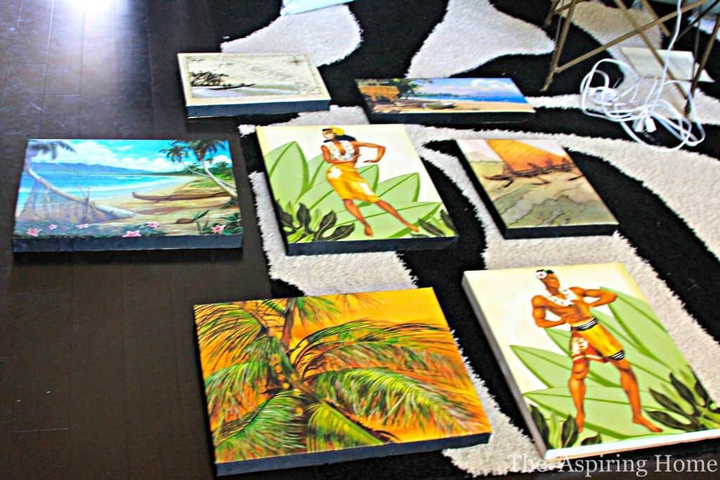 How to Stretch Canvas painting www.theaspiringhome.com