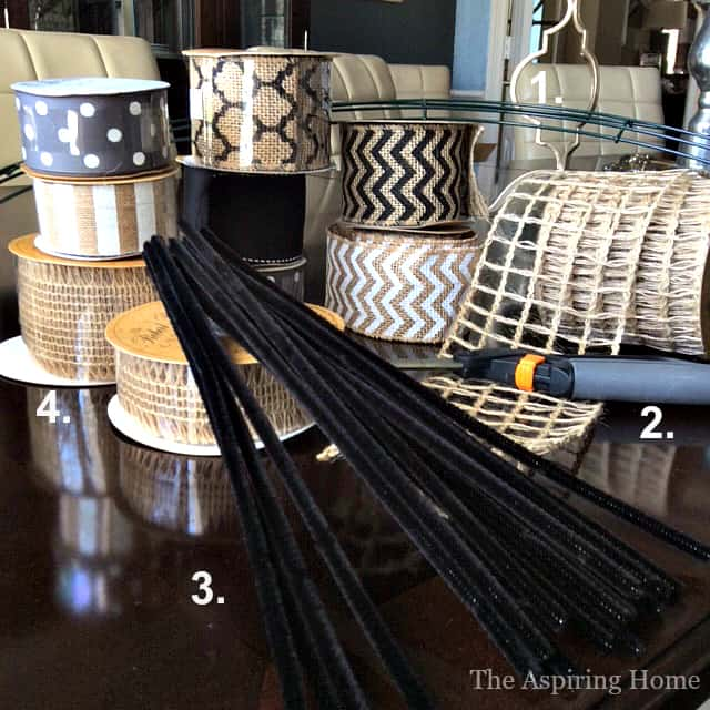 Supplies needed to create 1 wreath to style 3 ways for fall