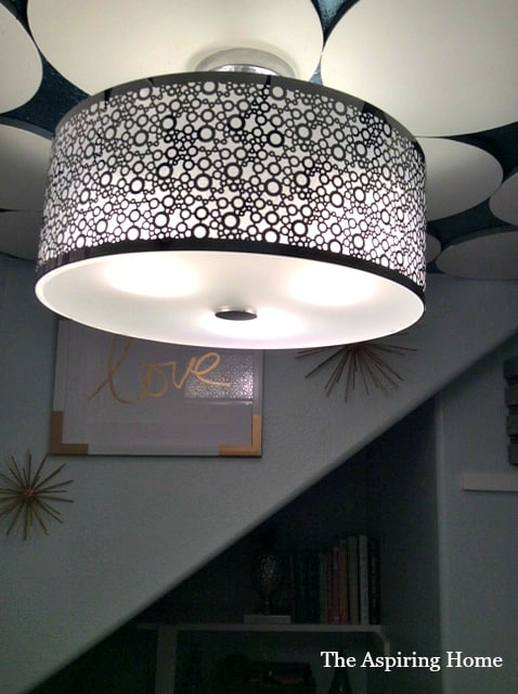 aspiringhome ceiling light pantry makeover details
