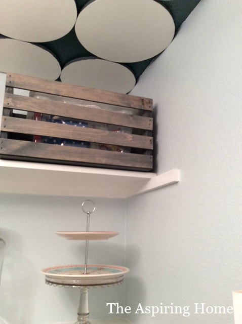 crate storage pantry makeover details