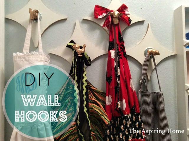 DIY fun wall hooks