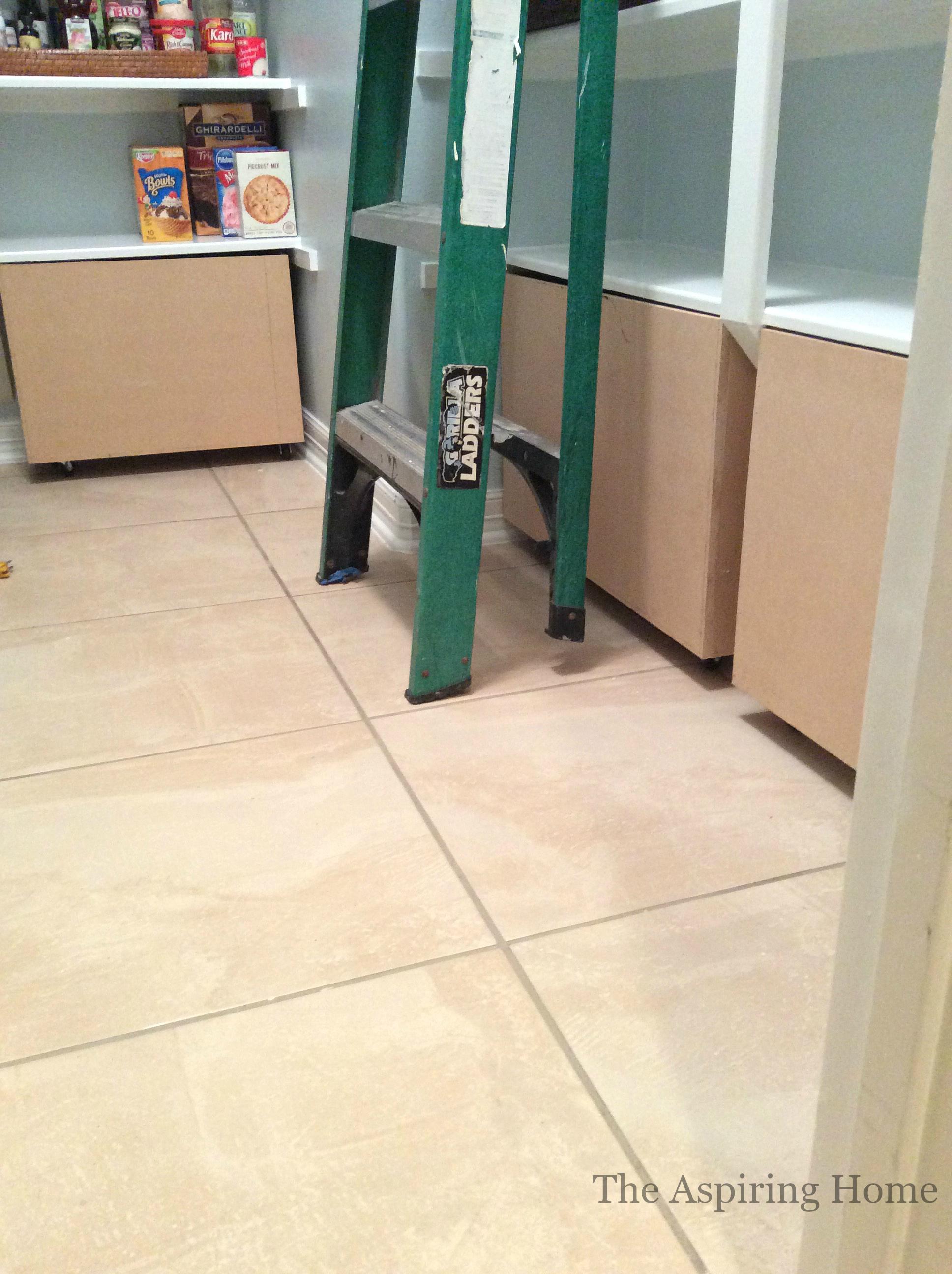 before paint and hardware under shelf storage bins