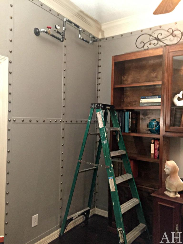 riveted wall treatment the aspiring home
