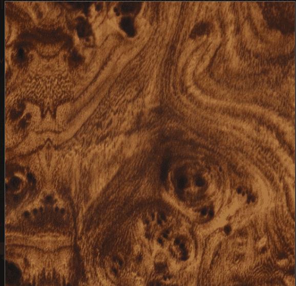 burled wood wall idea for powder room design