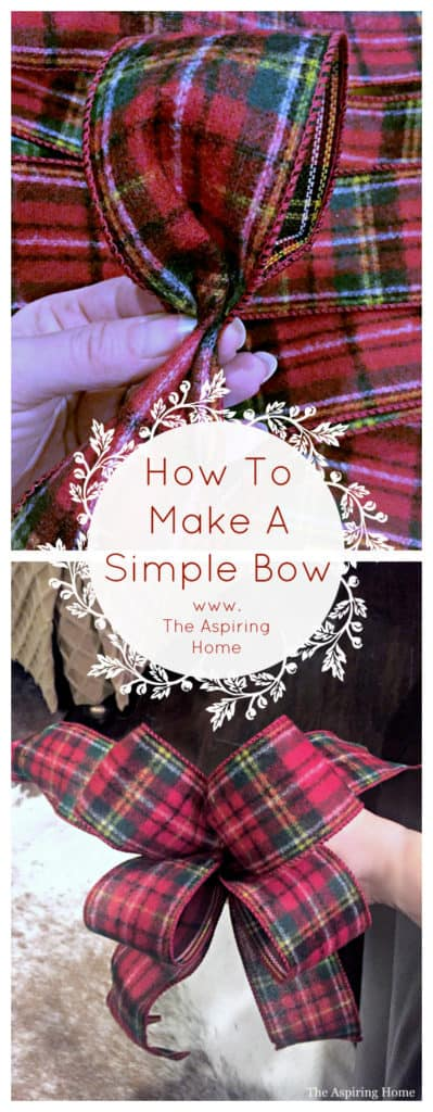 how to make a simple christmas bow aspiring home