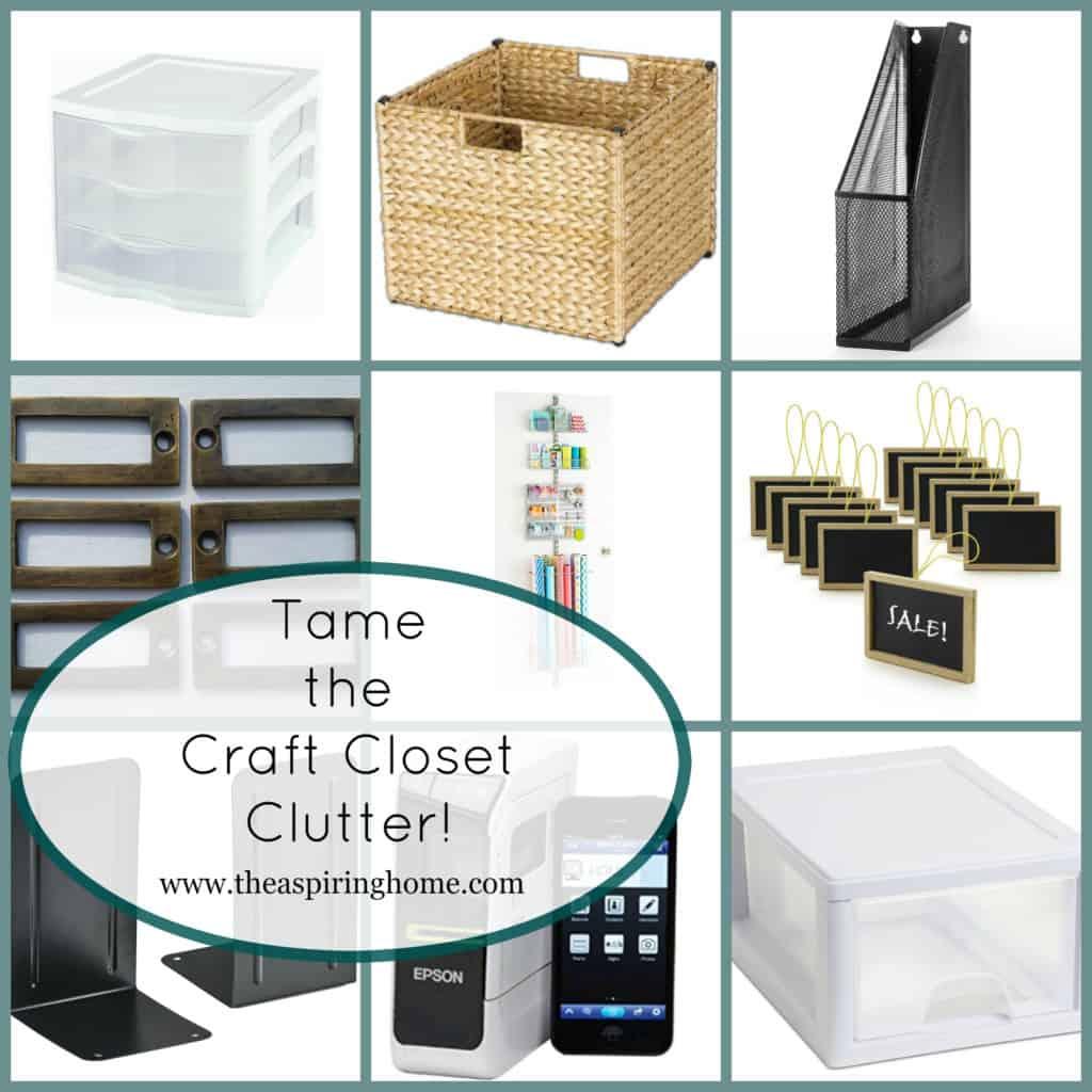 Tame the Craft Closet Clutter The Aspiring Home