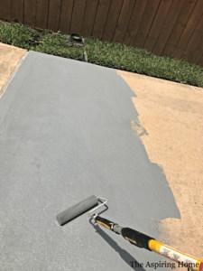 kitchen garden container concrete floor painting