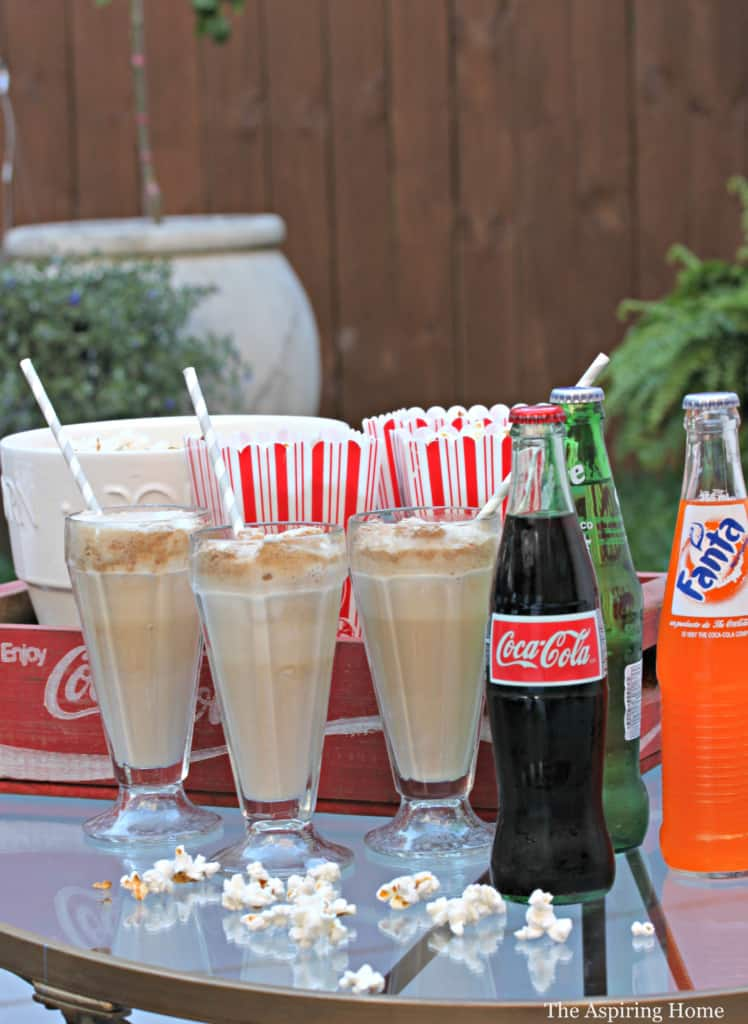 outdoor movie snacks for the Outdoor Room final reveal