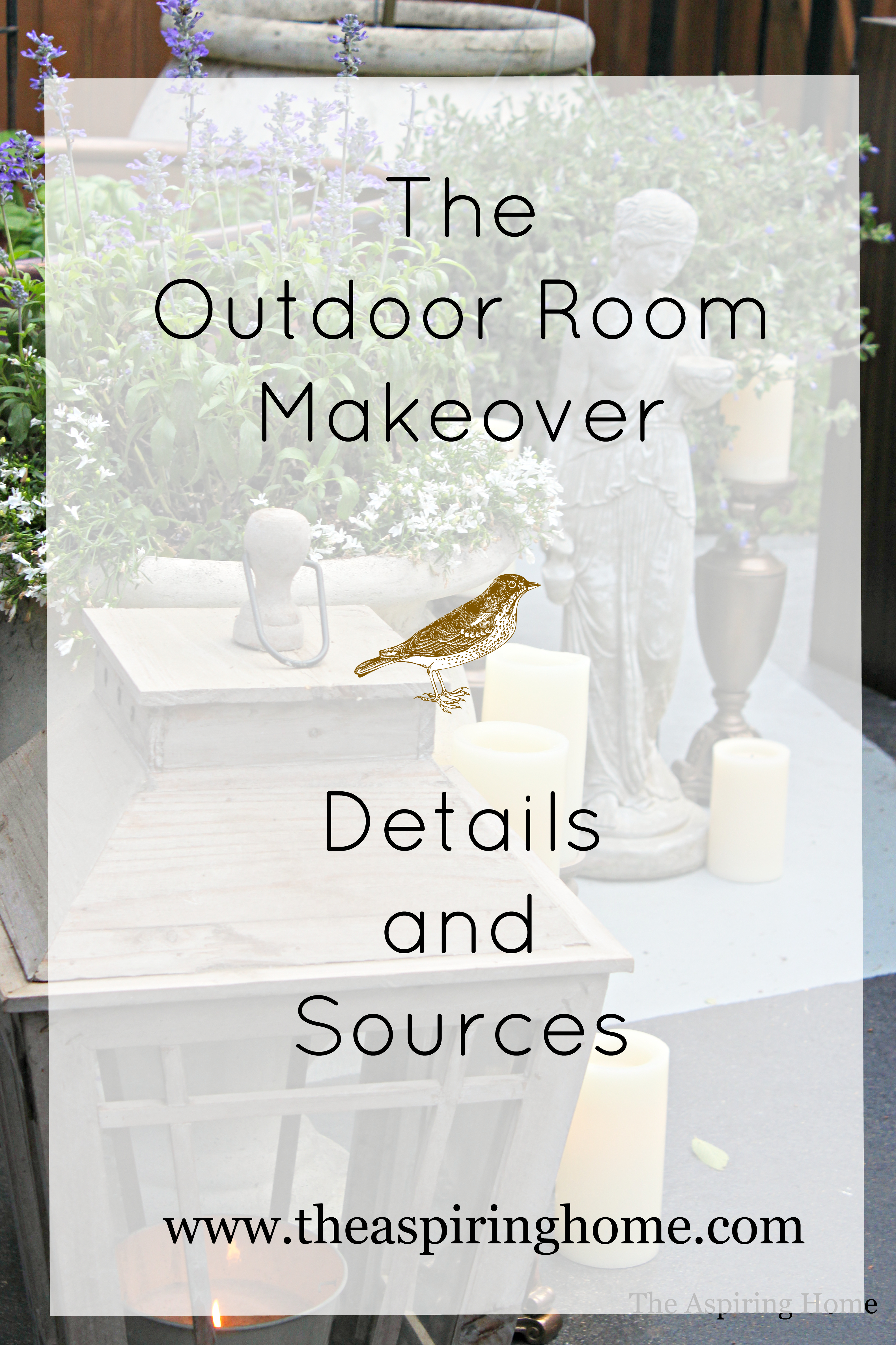 outdoor room details and sources to complete