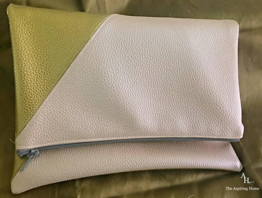 quick sew DIY handbag reversible