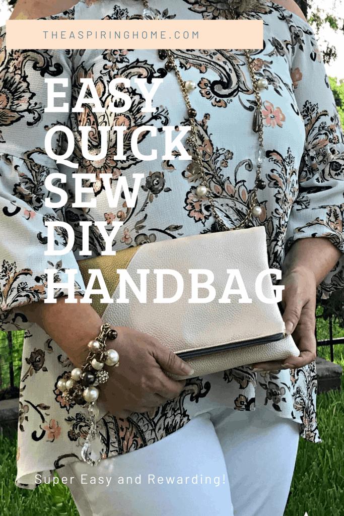 easy quick sew DIY handbag project