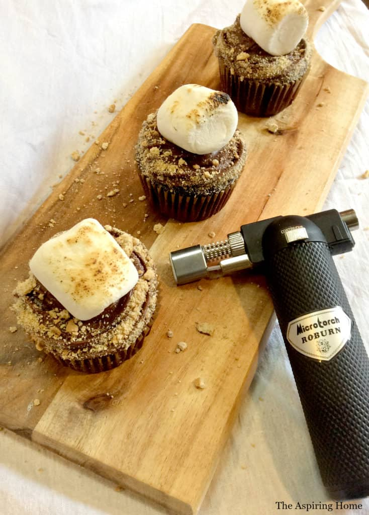 use torch tool to toast marshmallows