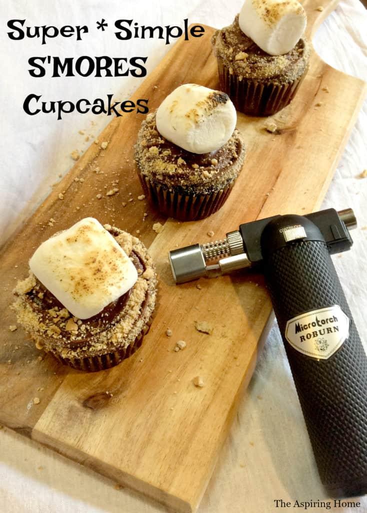 Super Simple Smores Cupcake Recipe