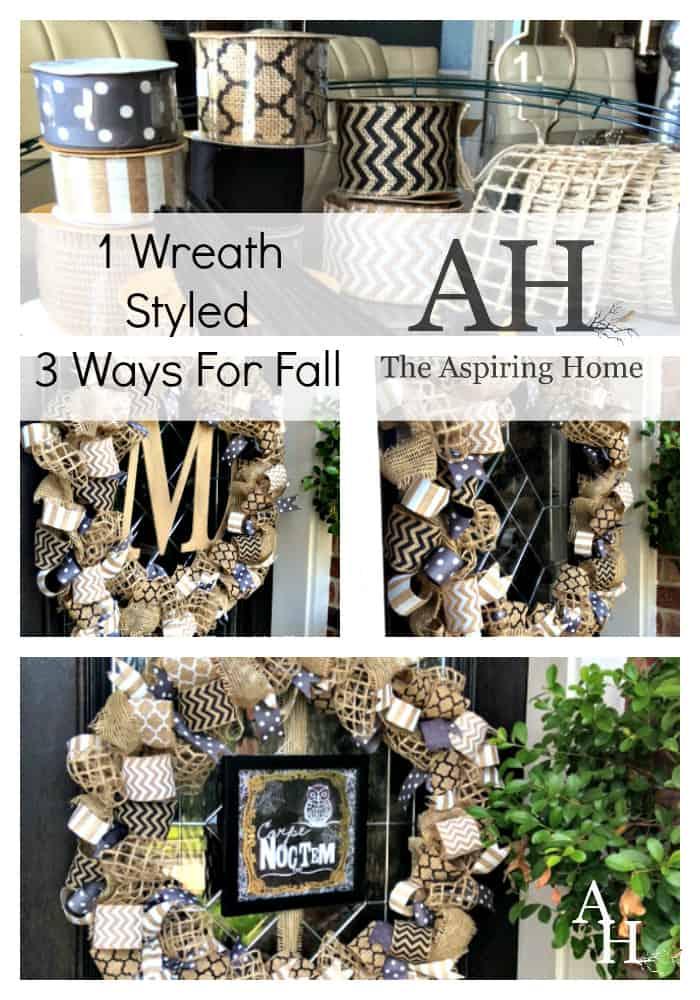 one wreath styled three ways for fall