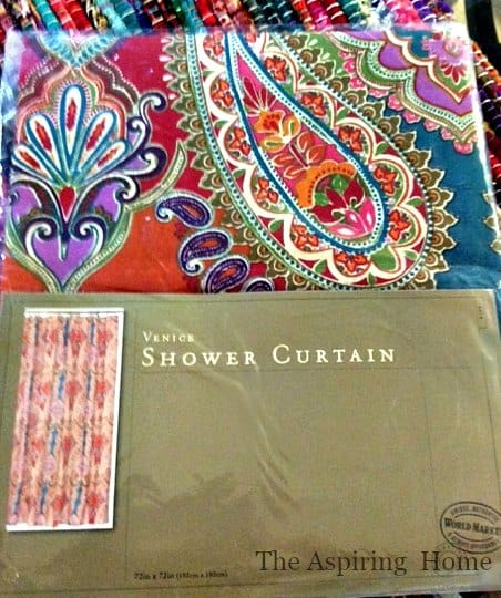 shower curtain becomes five easy projects