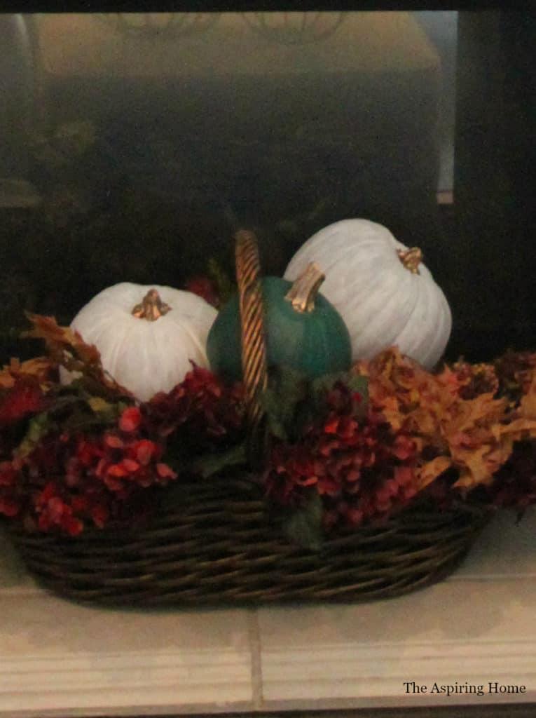 Basket of painted pumpkins