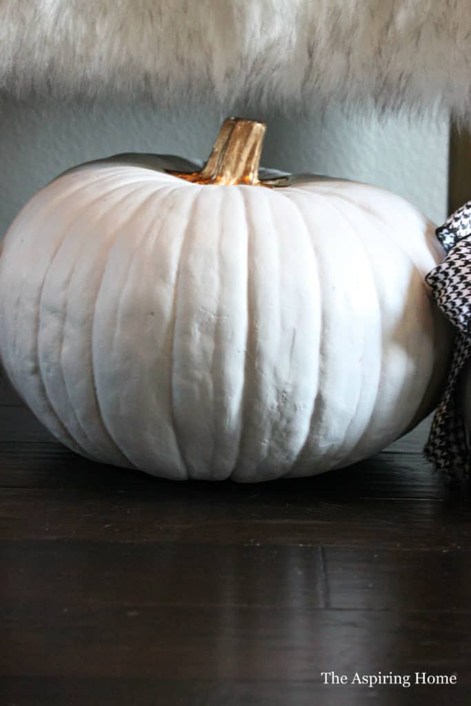 Large gold and white pumpkin