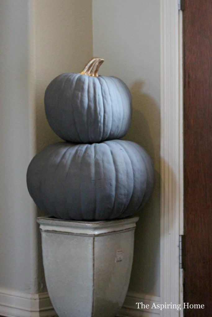 Dark Gray Chalk finish on pumpkins