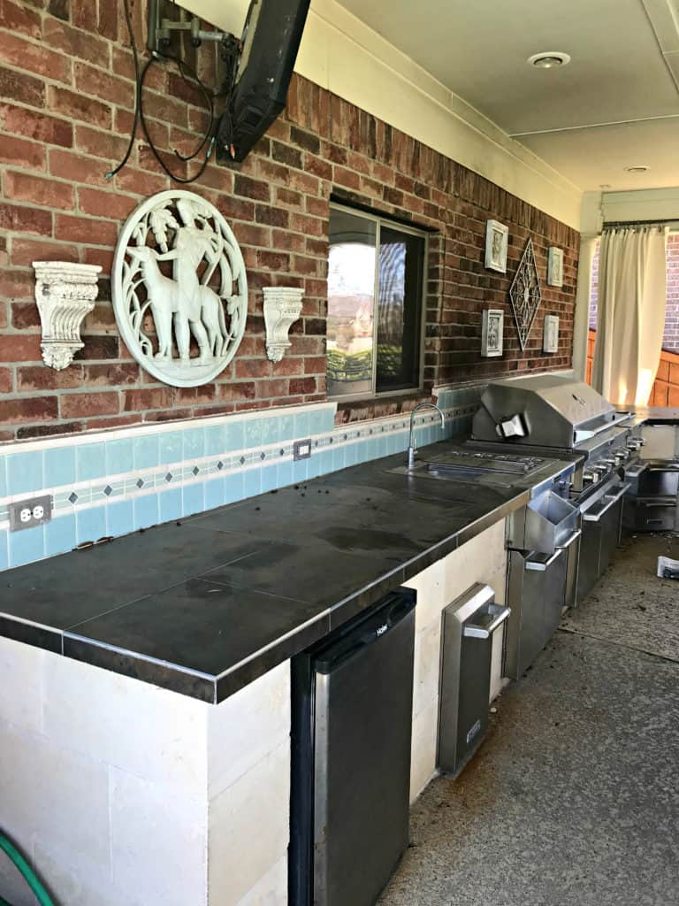 Outdoor Kitchen Before Backyard Makeover Final Reveal