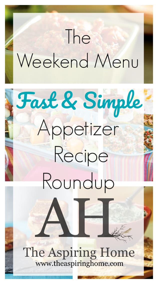 fast & simple appetizer recipe roundup
