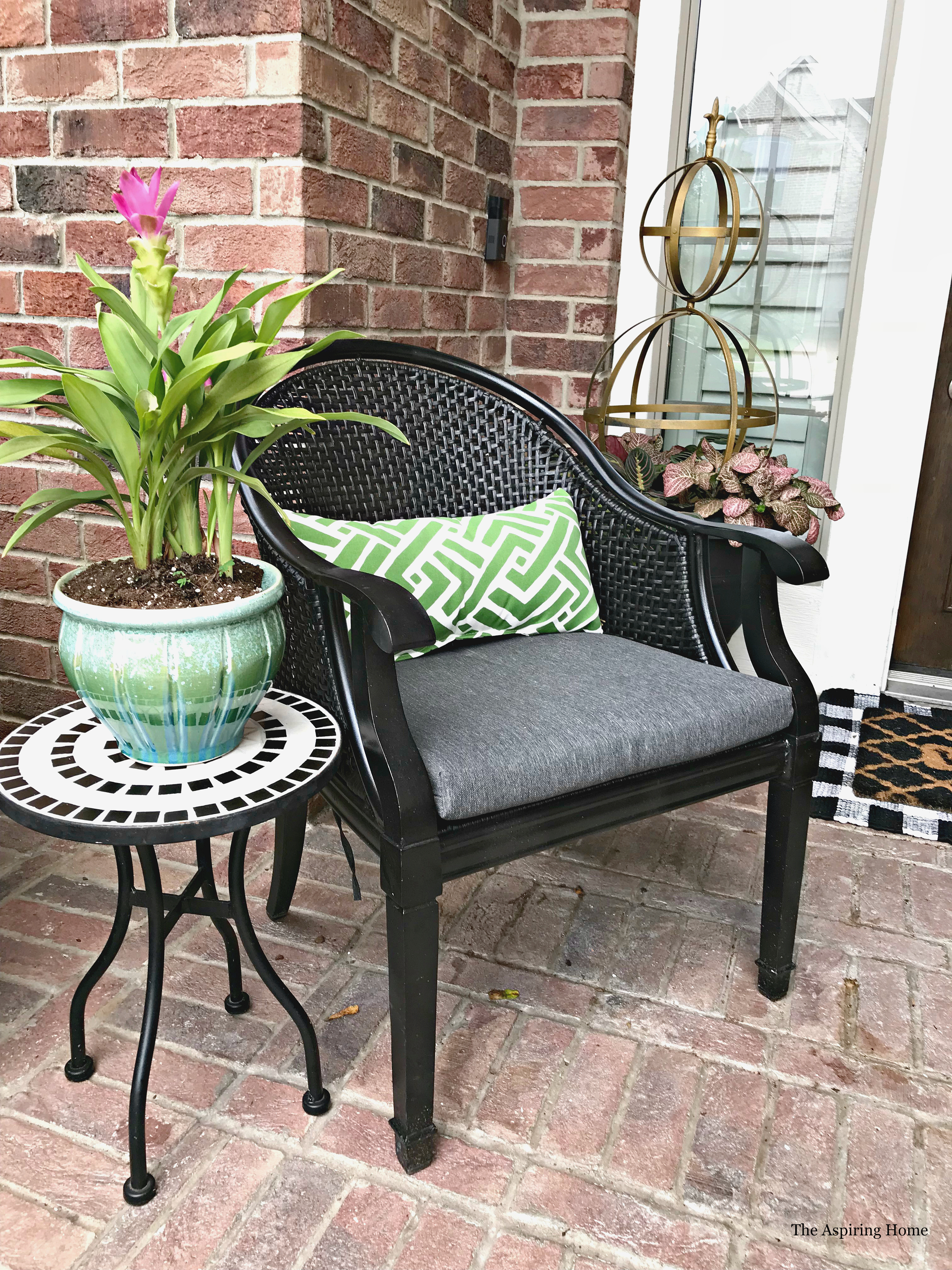Summer porch seating
