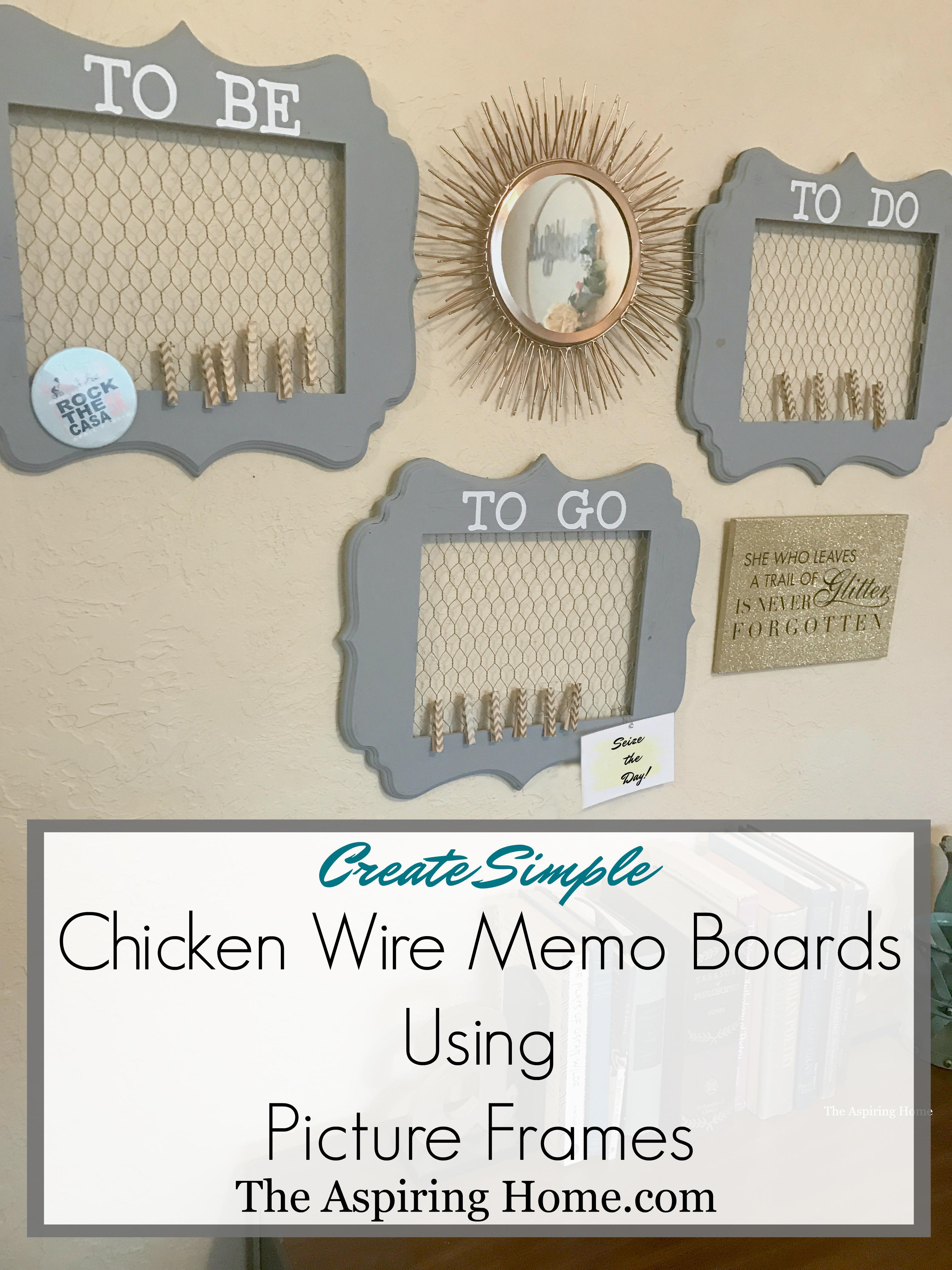 chicken wire memo boards