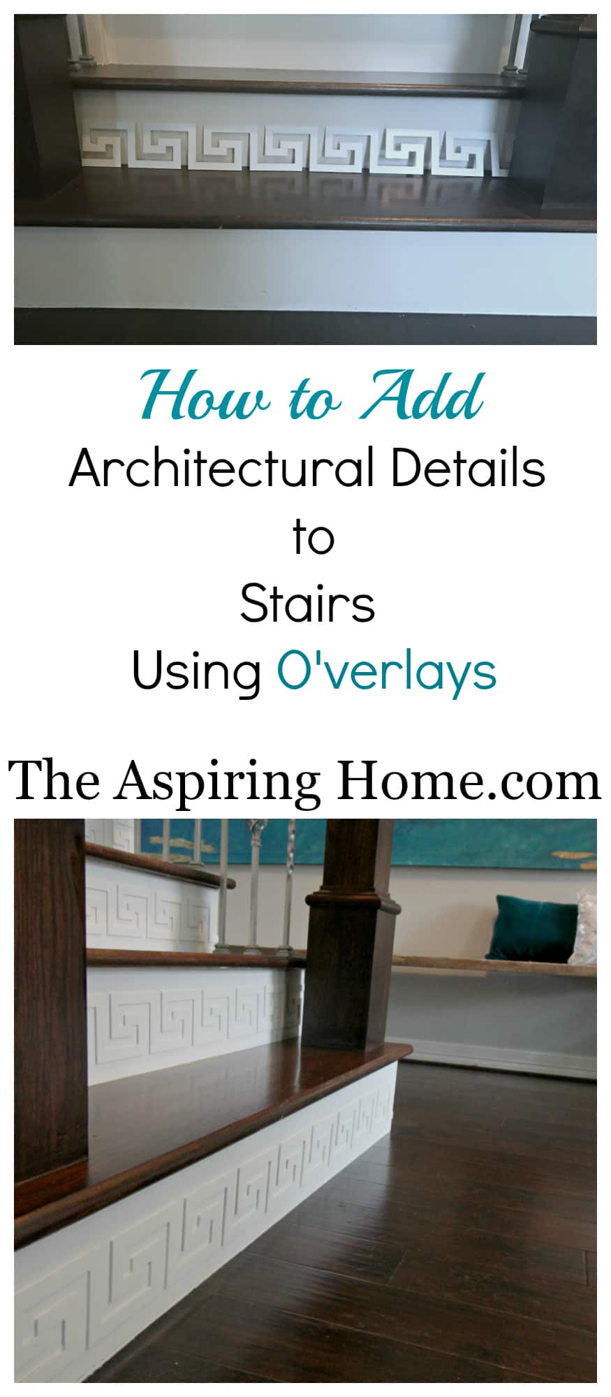 How to add architectural details to stairs using Overlays