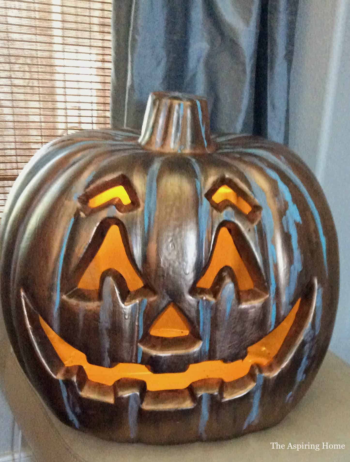 Step 5 protect your handiwork by using lacquer outdoor jack o' lanterns