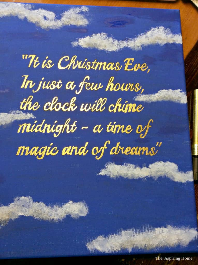 Paint a quote for your classic nutcracker wreath