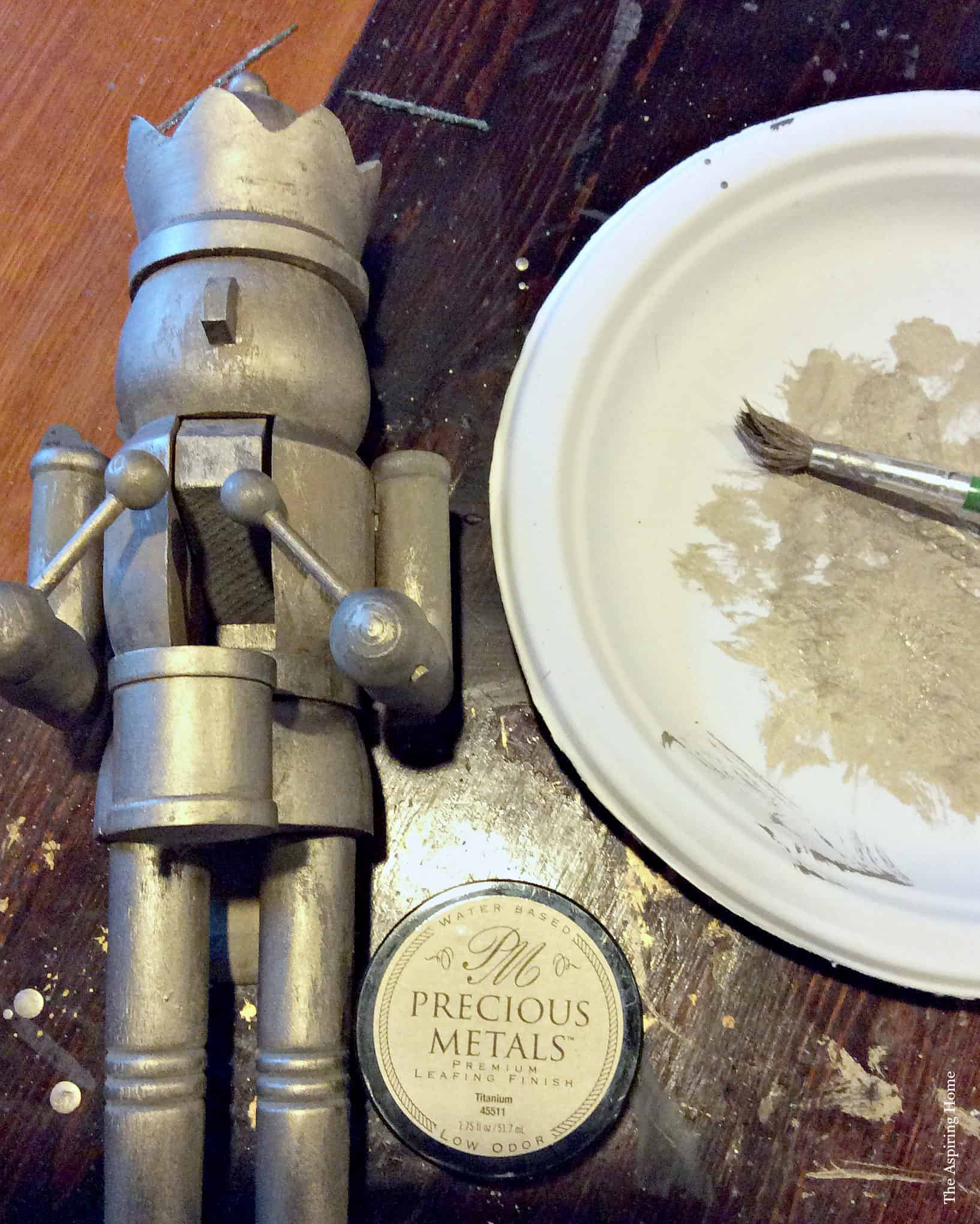 give a patina finish to your nutcracker for the classic nutcracker wreath
