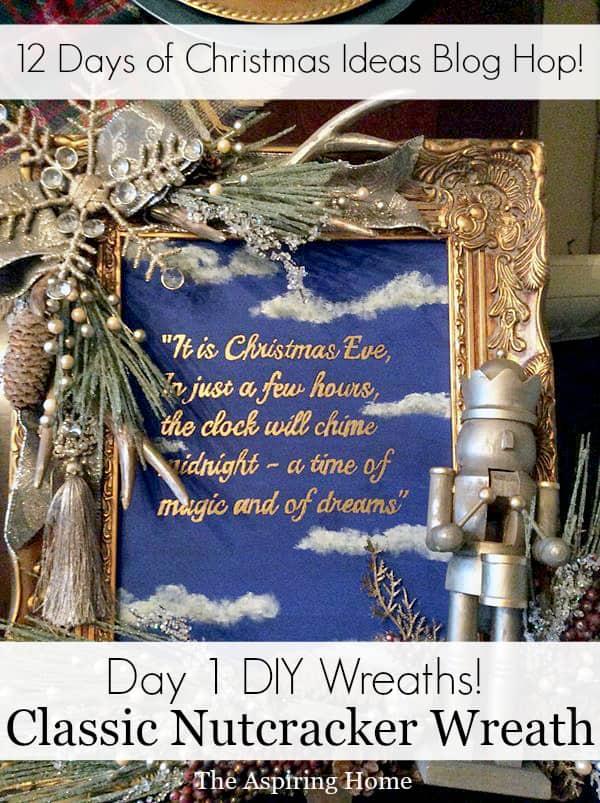 step by step DIY Classic nutcracker wreath