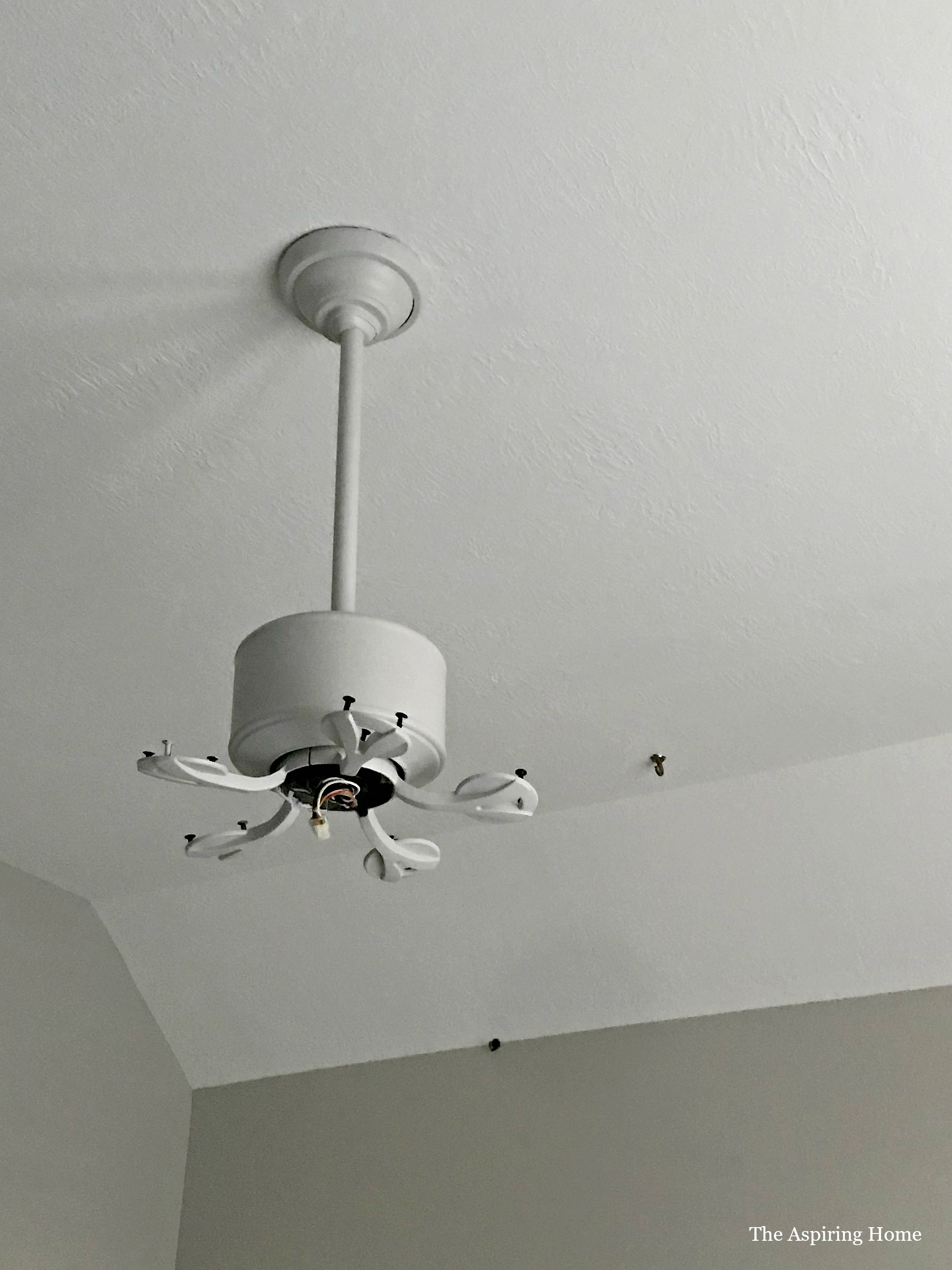 painted ceiling fan for bedroom refresh