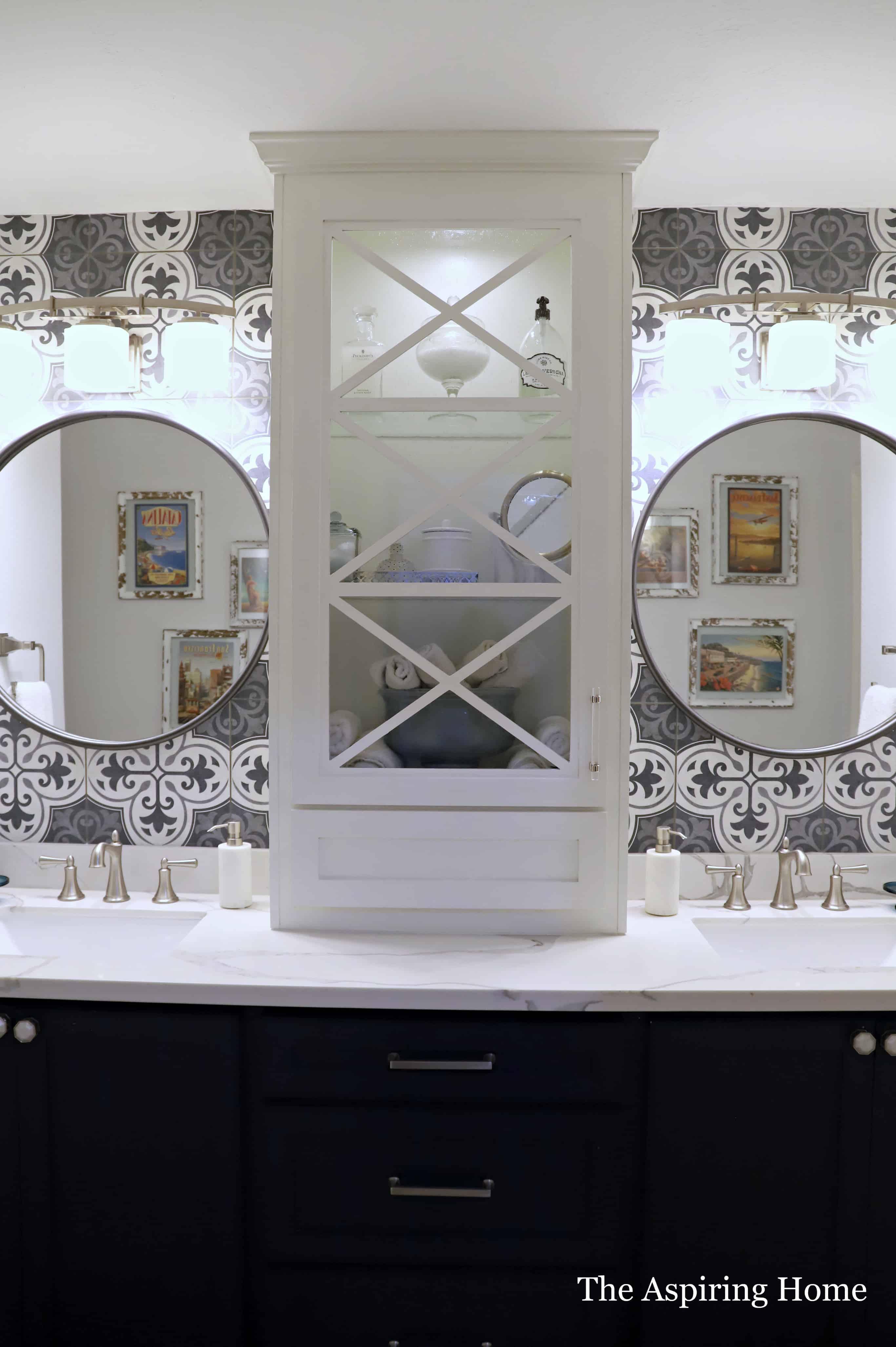 Make The Easiest Diy Paneled Glass Cabinet Door The Aspiring Home