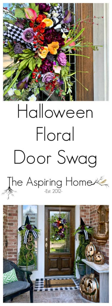 Halloween Floral Door Swag DIY