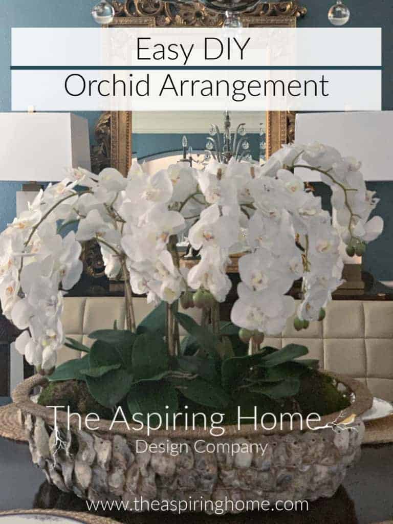 Easy DIY Orchid Arrangement Finished Project