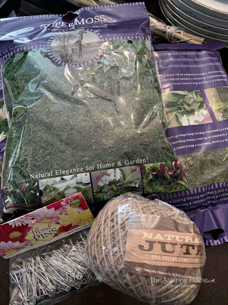supplies for easy diy orchid arrangement