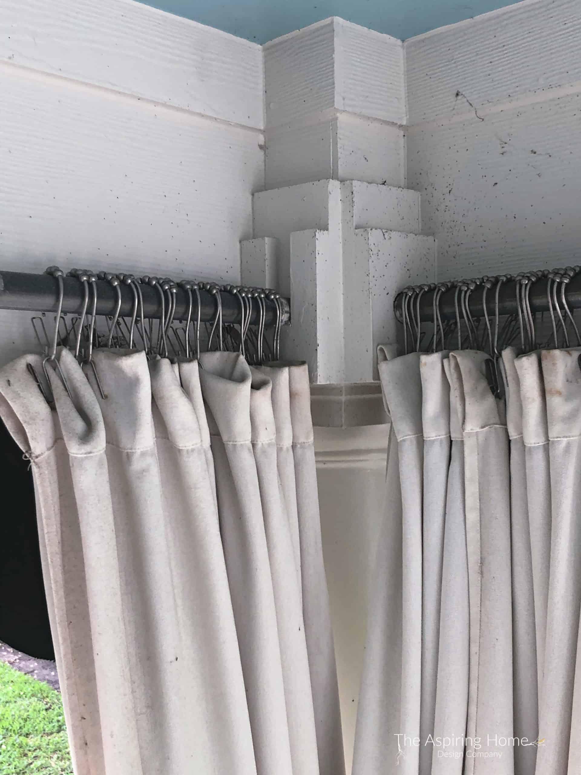 Make This Diy Outdoor Curtain Rod The Aspiring Home