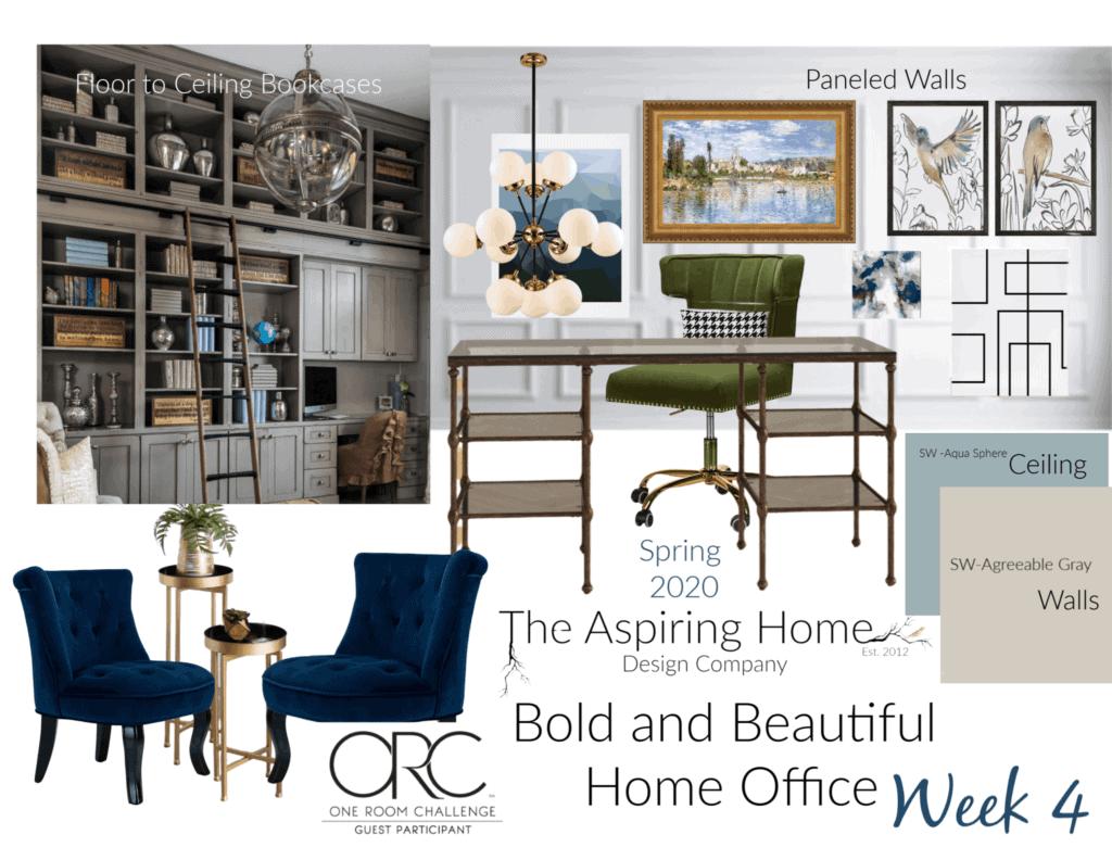 home office makeover details week 4 mood board