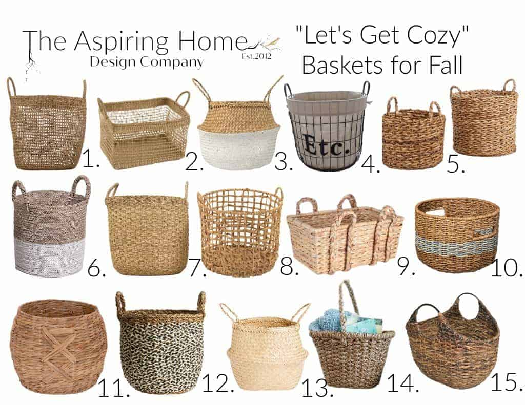 baskets for fall