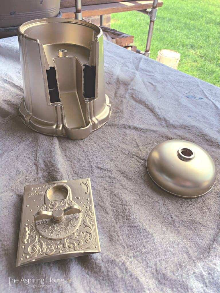 gold spray painted gumboil machine update