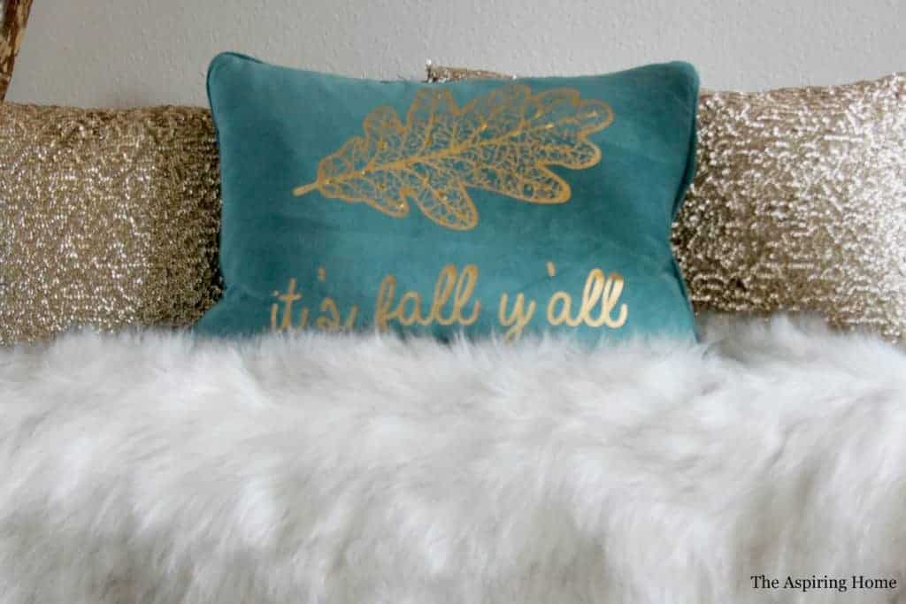 add pillows and throws