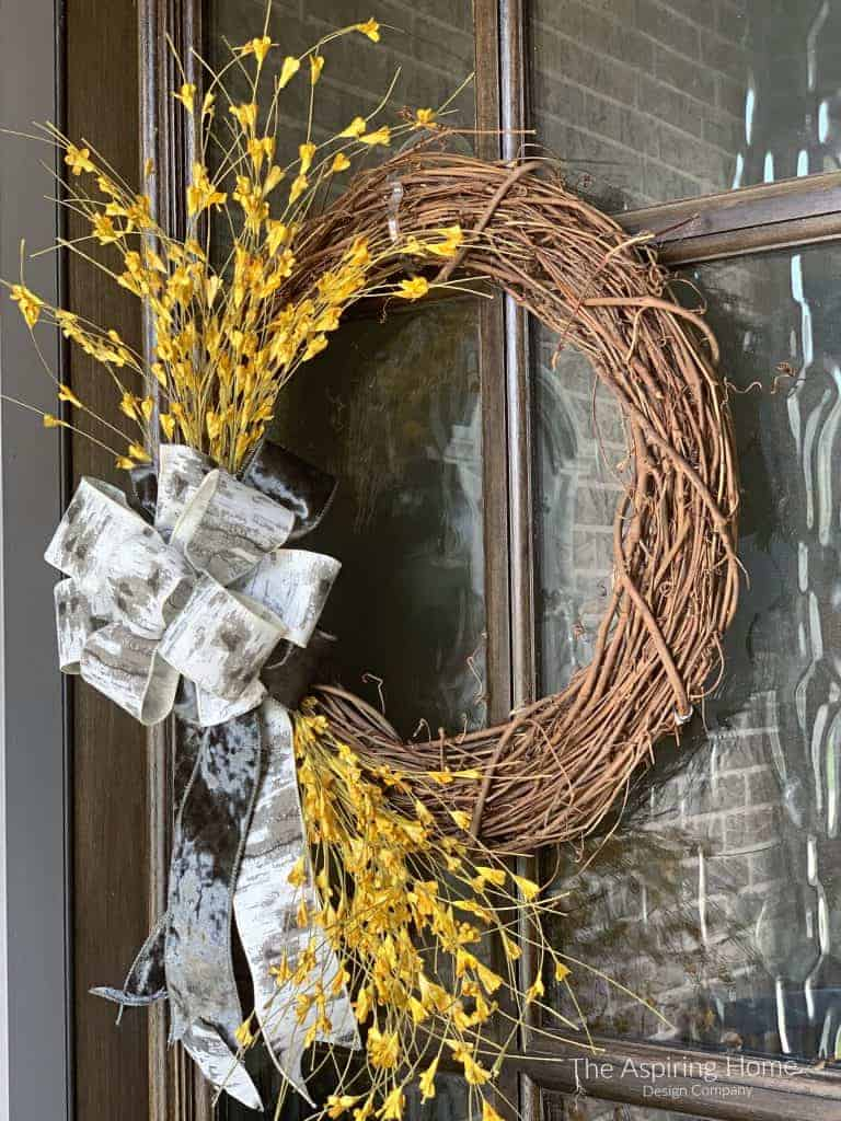 brilliant colors of fall yellow flower wreath