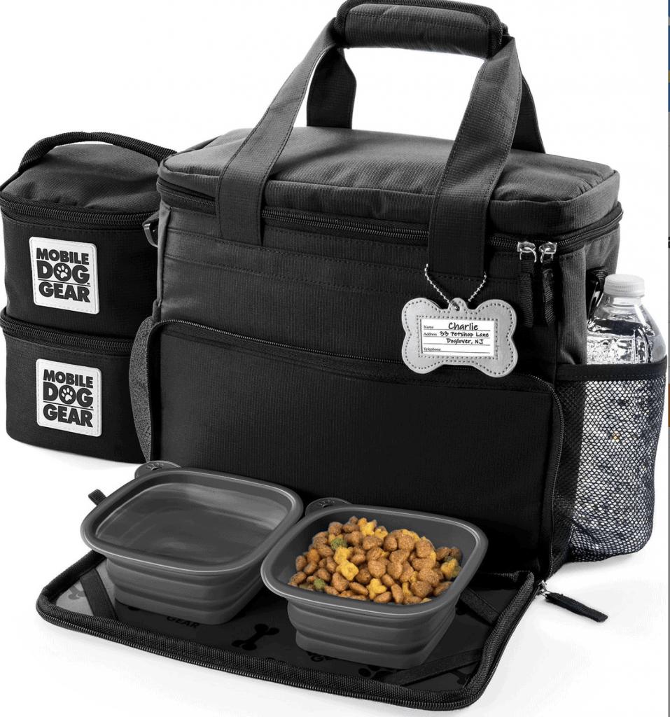mobile dog food carrier