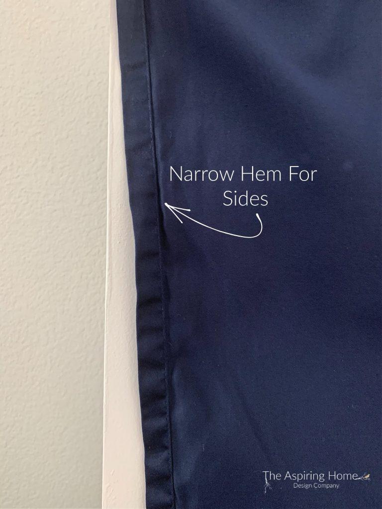 sew narrow hem
